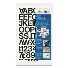 Chartpak Press-On Vinyl Letters & Numbers, Self Adhesive, Black, 1