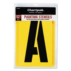 Chartpak Painting Stencil Set, A-Z Set, Manila, 26/Set