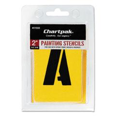 Chartpak Painting Stencil Set, A-Z Set/0-9, Manila, 35/Set
