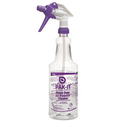 PAK-IT Color-Coded Trigger-Spray Bottle, 32 oz, Purple: Heavy-Duty All Purpose Cleaner
