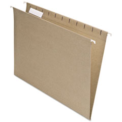 Pendaflex Earthwise Recycled Colored Hanging File Folders, 1/5 Tab, Letter, Natural, 25/Box