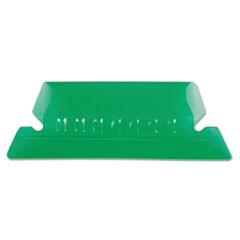 Pendaflex Hanging File Folder Tabs, 1/5 Tab, Two Inch, Green Tab/White Insert, 25/Pack