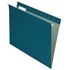 Pendaflex Earthwise Recycled Colored Hanging File Folders, 1/5 Tab, Letter, Blue, 25/Box