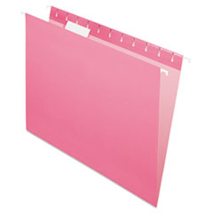 Pendaflex Essentials Colored Hanging Folders, 1/5 Tab, Letter, Pink, 25/Box