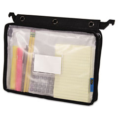 Advantus Expanding Zipper Pouch, 8-1/2 x 11, Clear/Black