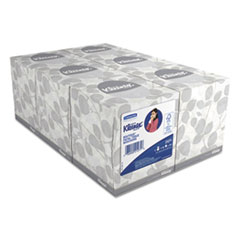 KIMBERLY-CLARK PROFESSIONAL* KLEENEX White Facial Tissue, 2-Ply, POP-UP Box, 95/Box, 6 Boxes/Pack