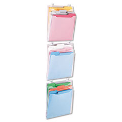 Advantus Transparent Three Pocket Panel Wall Organizers, Letter, Clear