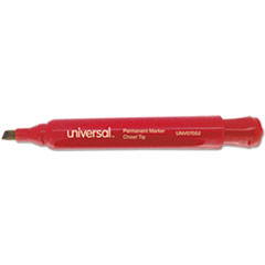Universal Permanent Markers, Chisel Tip, Red, Dozen