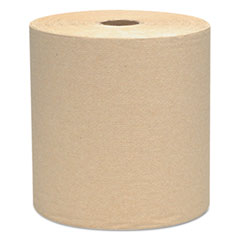 KIMBERLY-CLARK PROFESSIONAL* SCOTT Hard Roll Towels, 8 x 800ft, Natural, 12 Rolls/Carton