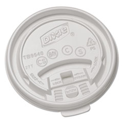 Dixie Plastic Lids for Hot Drink Cups, 10oz, White, 1000/Carton