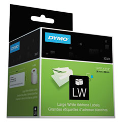 DYMO Address Labels, 1-2/5 x 3-1/2, White, 520/Box