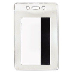 Advantus Security ID Badge Holder, Vertical, 2 5/8w x 3 7/8h, Clear, 50/Box
