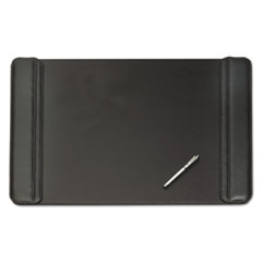 Artistic Sagamore Desk Pad w/Flip-Open Side Panels, 36 x 20, Black