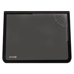 Artistic Logo Pad Desktop Organizer with Clear Overlay, 22 x 17, Black
