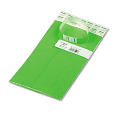 Advantus Crowd Management Wristbands, Sequentially Numbered, Green, 100/Pack
