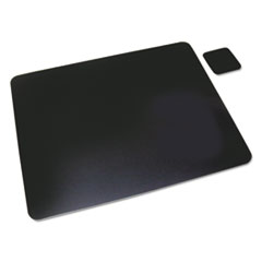 Artistic Leather Desk Pad, 20 x 36, Black