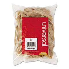 Universal Rubber Bands, Size 64, 3-1/2 x 1/4, 80 Bands/1/4lb Pack