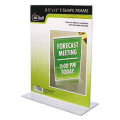 NuDell™ FRAME 8.5X11 T CLR Clear Plastic Sign Holder, Stand-Up, 8 1-2 X 11