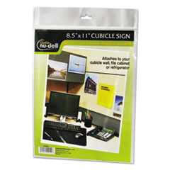 NuDell™ FRAME 8.5X11WALL SIGN CLR Clear Plastic Sign Holder, All-Purpose, 8 1-2 X 11