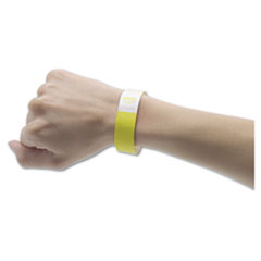 Advantus Crowd Management Wristbands, Sequentially Numbered, Yellow, 500/Pack