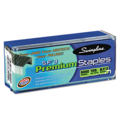 Swingline S.F. 3 Premium Chisel Point 105 Count Half Strip Staples, 5,000/Box