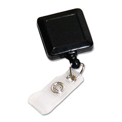 Advantus Square Retractable ID Card Reel, 30
