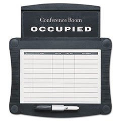 Quartet Dry-Erase Conference Room Scheduler, 15 1/2 x 14 1/4, White, Gray Frame