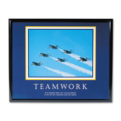 Advantus �Teamwork/Jets� Framed Motivational Print, 30 x 24