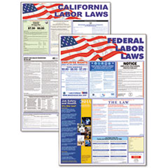 Advantus State/Federal Labor Lawith Legally Required Multi-Colored Poster, 24 x 36