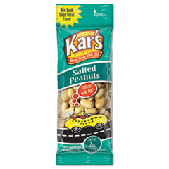 Kar's Nuts Caddy, Salted Peanuts, 2oz Packets, 24/Box
