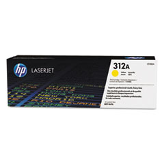 HP CF382A (312A) Toner, 2700 Page-Yield, Yellow