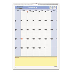 AT-A-GLANCE QuickNotes Recycled Wall Calendar, 12