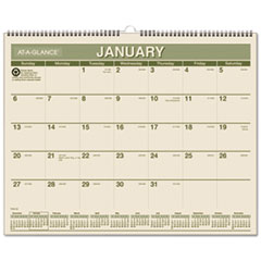 AT-A-GLANCE Recycled Wall Calendar, 15 x 12, 2016