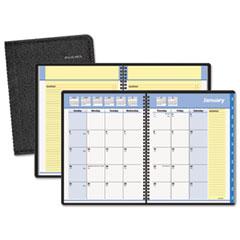 AT-A-GLANCE QuickNotes Recycled Monthly Planner, 6-7/8 x 8-3/4, Black, 2015