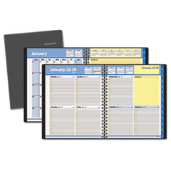 AT-A-GLANCE QuickNotes Recycled Weekly/Monthly Appointment Book, 8 x 9-7/8, Black, 2015