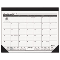 AT-A-GLANCE Monthly Refillable Desk Pad, 22 x 17, White, 2016