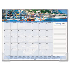 AT-A-GLANCE Recycled Harbor Views Panoramic Desk Pad, 22