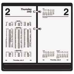AT-A-GLANCE Financial Desk Calendar Refill, 3 1/2 x 6, White, 2015