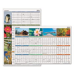 AT-A-GLANCE �Seasons In Bloom� Erasable Planner, Jan.-Dec., Wall, 36
