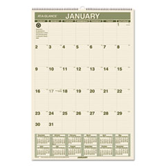 AT-A-GLANCE Recycled Wall Calendar, 15 1/2 x 22 3/4, 2016