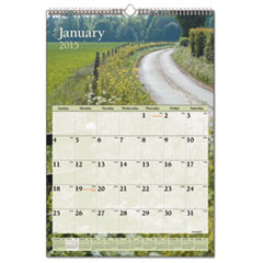 AT-A-GLANCE Recycled Scenic Monthly Wall Calendar, Jan-Dec, Wall, 12 x 17, 2015