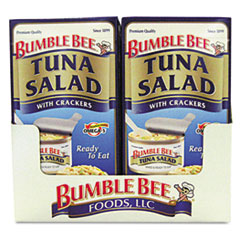 Bumble Bee On-The-Go Meal Solution w/Crackers, Tuna Salad, 3.5 oz, 12/Carton