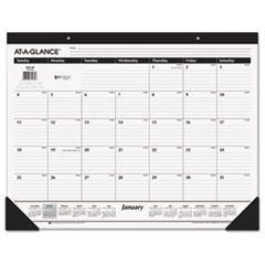 AT-A-GLANCE Classic Desk Pad, 22 x 17, 2016