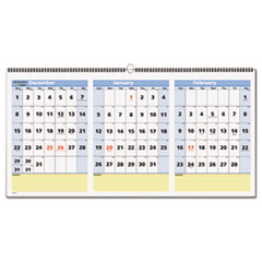 AT-A-GLANCE QuickNotes Three-Month Horizontal Wall Calendar, 23 1/2