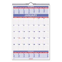 AT-A-GLANCE Recycled Three-Month Calendar, 15 1/2