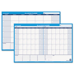 AT-A-GLANCE Recycled 30/60-Day Undated Horizontal Erasable Wall Planner, 36