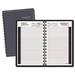 AT-A-GLANCE Recycled Daily Appointment Book, Black, 4 7/8
