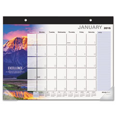 AT-A-GLANCE Successories Motivational Desk Pad, 22 x 17, 2015