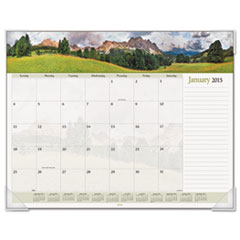AT-A-GLANCE Recycled Landscape PanoramicDesk Pad, 22 x 17, 2015