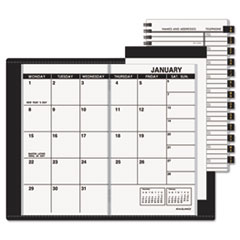 AT-A-GLANCE Recycled Monthly Planner, Unruled, 3-1/2 x 6-1/8, Black, 2015-2016
